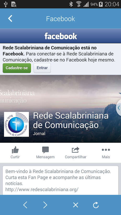 Rede Scalabriniana- screenshot