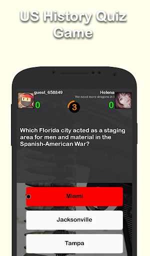 US History Trivia screenshot