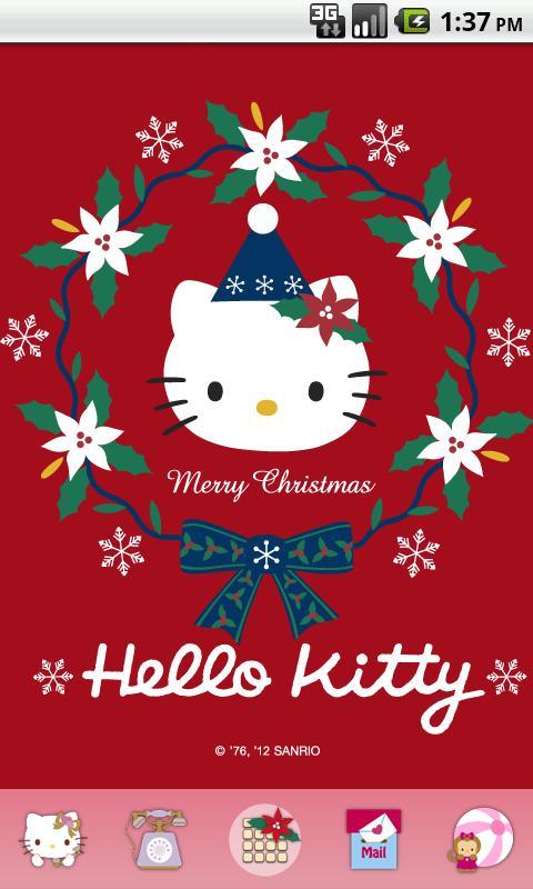 Hello Kitty Merry Christmas.Hello Kitty Red Christmas