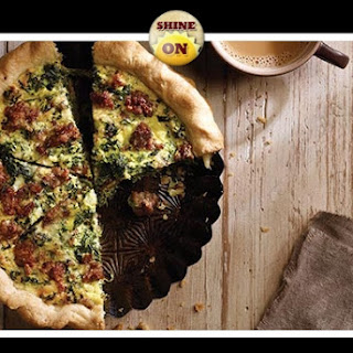 Sausage and Spinach Quiche.