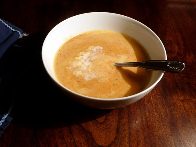 Potage Aux Poivrons Rouges (French Red Pepper Soup) Recipe