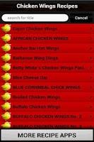 Screenshot of ChickenWings Recipes Cookbook