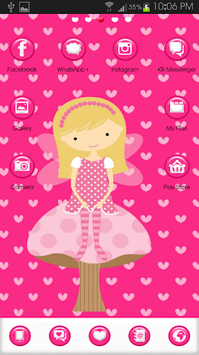 Go Launcher Fairy Sweet Heart