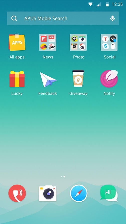 Dawn theme for APUS Launcher- screenshot