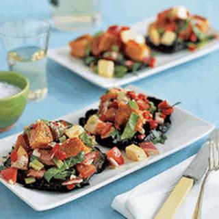Panzanella-Topped Grilled Portobellos