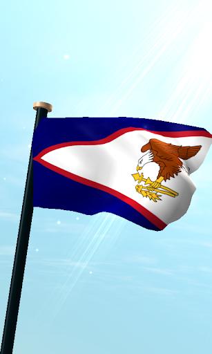 美國薩摩亞旗3D動態桌布