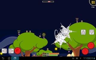 Screenshot of Hedgewars (Alpha version)