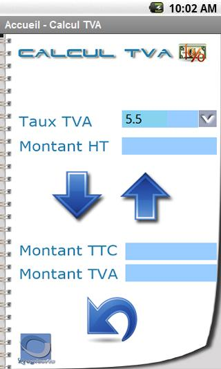 Calculatrice TVA- screenshot