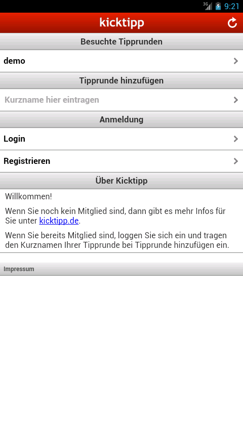Kicktipp - screenshot