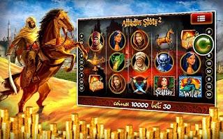 Screenshot of Aladdin 2 Slot Machines Pokies