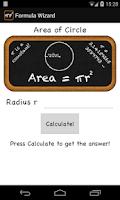 Screenshot of Math Formula Wizard