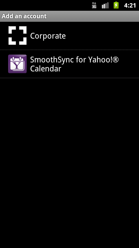 SmoothSync for Yahoo!® Calenda- screenshot