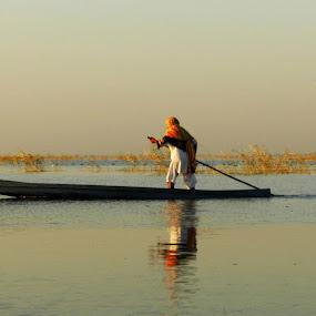 Boating by Pratik Raibagkar - Landscapes Waterscapes ( gujarat, jpeg, camera, image, lake, landscape, boat, p500, 500, picture, ahmedabad, png, india, nal sarovar, nikon,  )