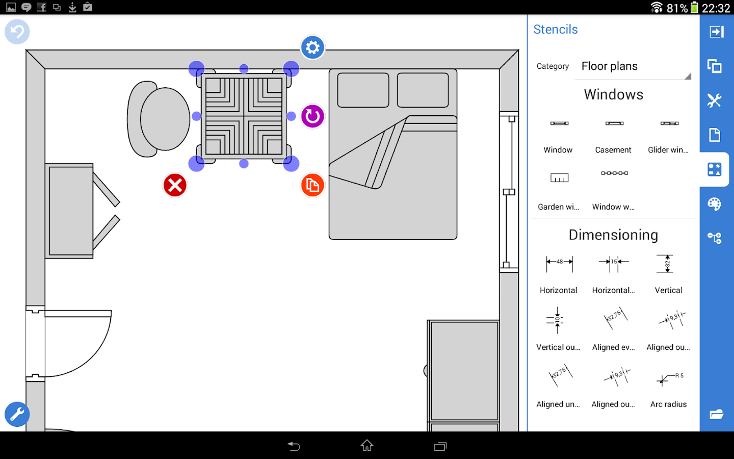 Grapholite floor plans android apps on google play for Wedding floor plan app