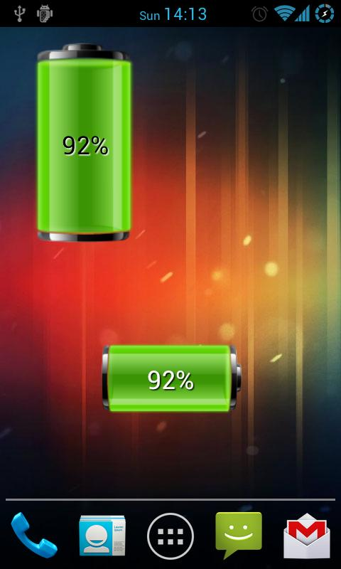 Dual Battery Widget - screenshot