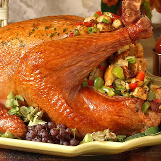 Roast Turkey With Sausage-Gumbo Stuffing