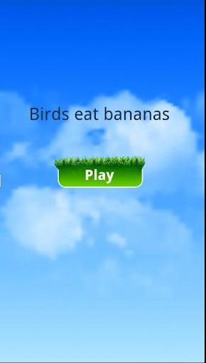 Bird eat bananas