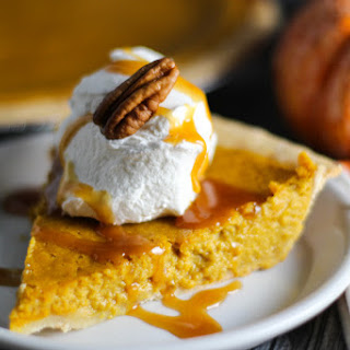 Pumpkin Pie with Salted Caramel Sauce