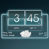 3D Flip Clock Theme Pack 04