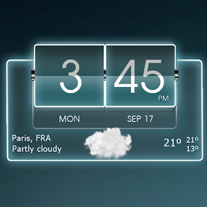 Glowing skins for the 3D Flip Clock & World Weather widget APK Icon