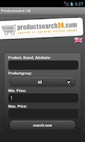 Screenshot of Productsearch UK
