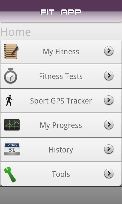 Fit App- screenshot