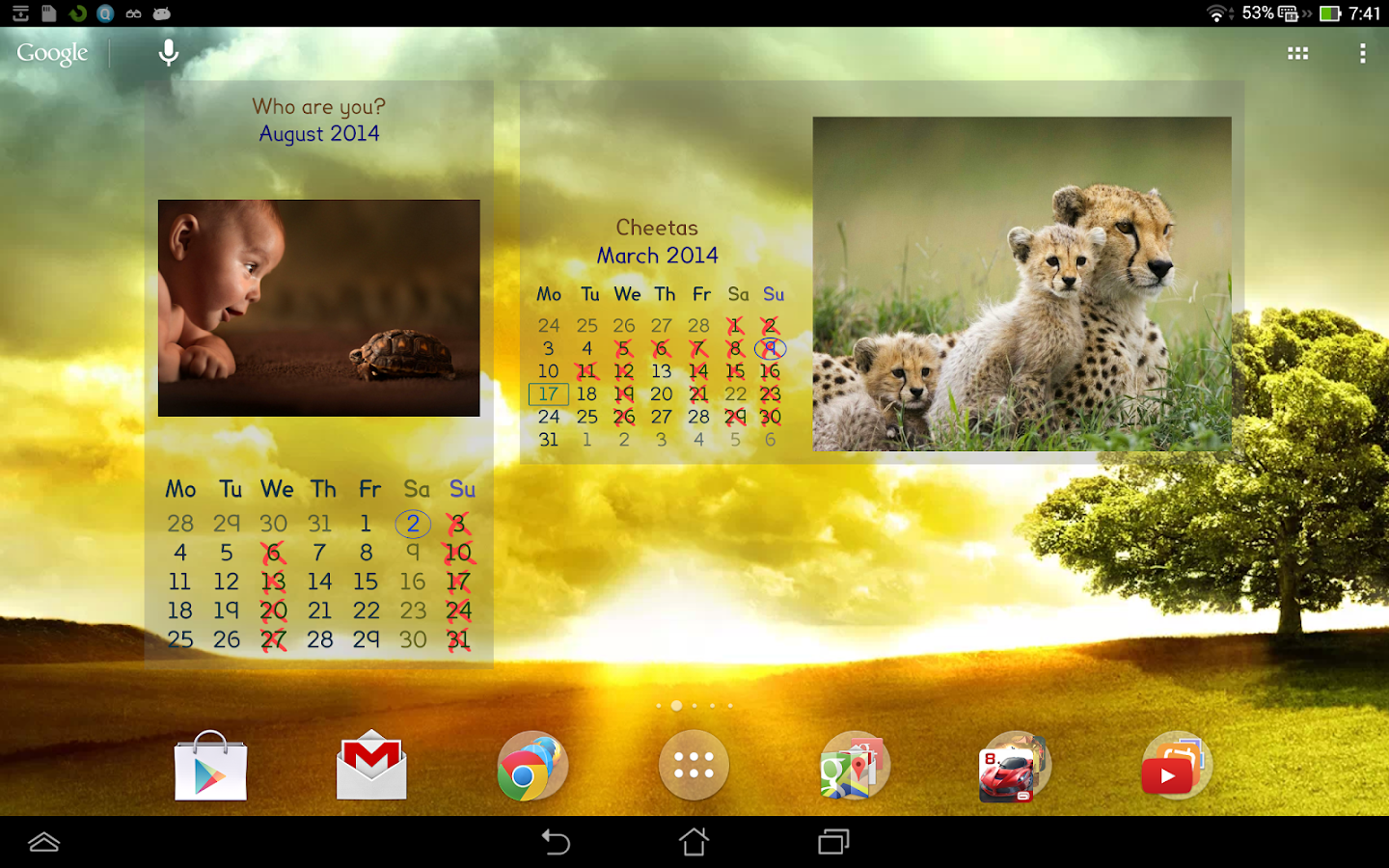 Picture Calendar 2014 - screenshot