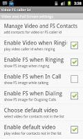 Screenshot of Video Full Screen Caller ID Tr