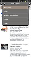 Screenshot of NWU Mobile