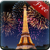 Eiffel Tower Fireworks LWP