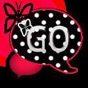 GO SMS THEME/RedPolkaDot icon