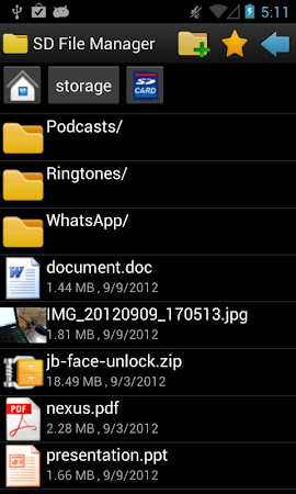 SD File Manager 1.0.9 screenshot 34453
