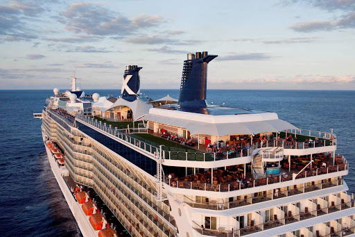 Celebrity_Eclipse_aerial_Miami_3 - Head to one of the top decks of Celebrity Eclipse for a front-row seat to a beautiful sunset.