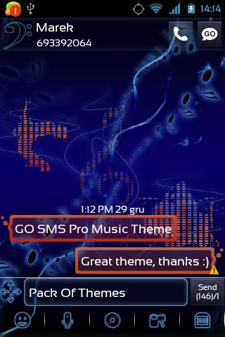 GO SMS Pro Music Theme - screenshot