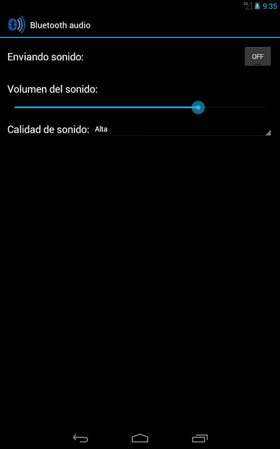 Puente de sonido Bluetooth- screenshot