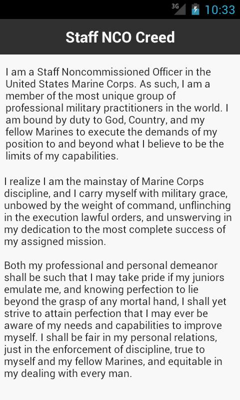 Marine Corps Creeds - Android Apps on Google Play