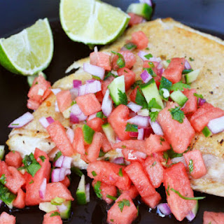 Grilled Halibut With Watermelon Salsa