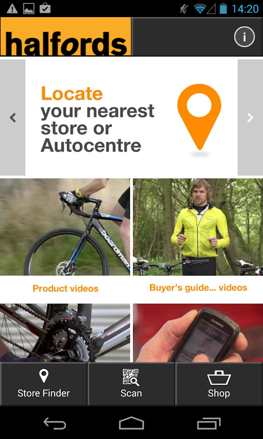 Halfords - screenshot