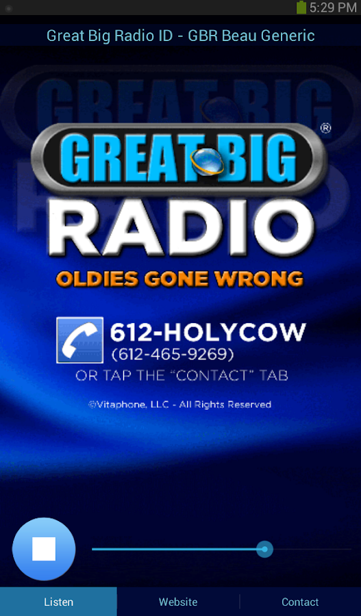 Great Big Radio- screenshot