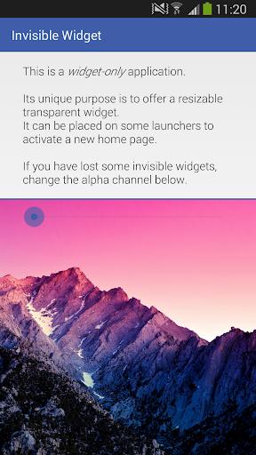 Invisible Widget