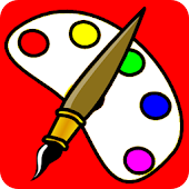 cartoon kid coloring book app