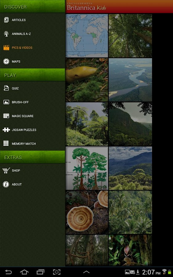 Britannica Kids: Rainforests - screenshot