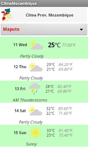 Clima Temperatura Moçambique