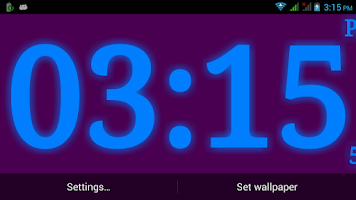 Screenshot of Digital Clock Live Wallpaper