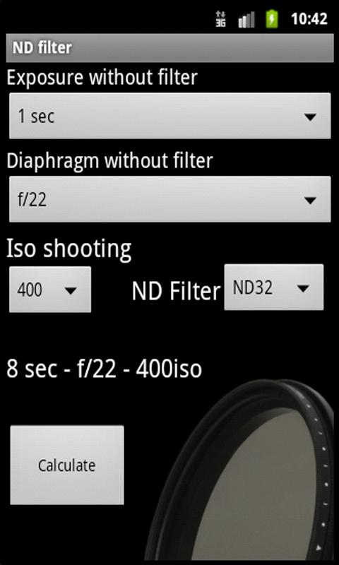 ND filter - screenshot