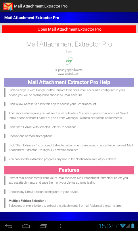 Mail Attachment Extractor Pro- screenshot
