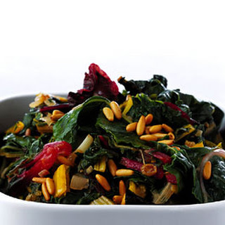 Swiss Chard with Raisins and Pine Nuts.