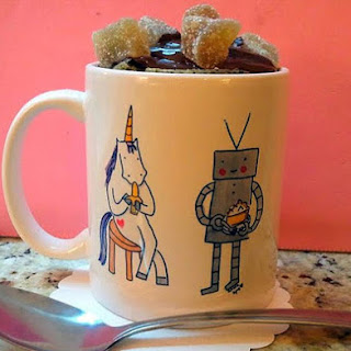 Microwave Chocolate Cake in a Mug.