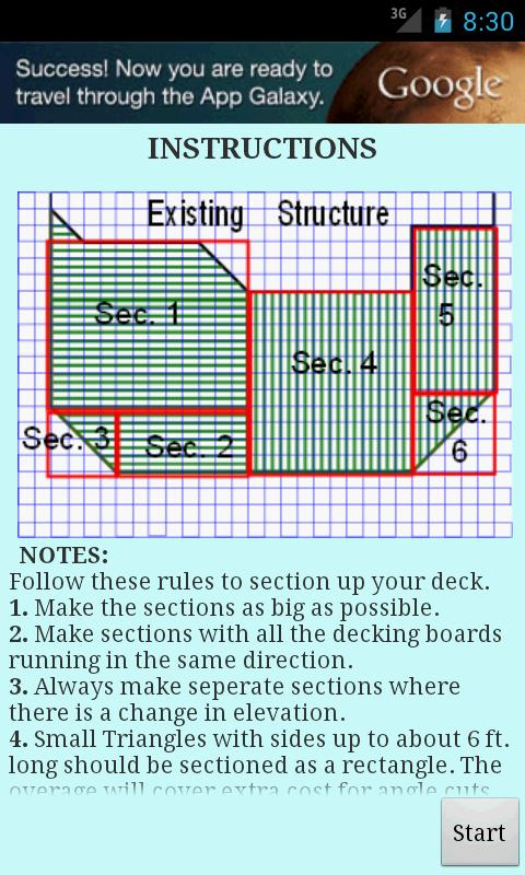 Deck Estimator - screenshot