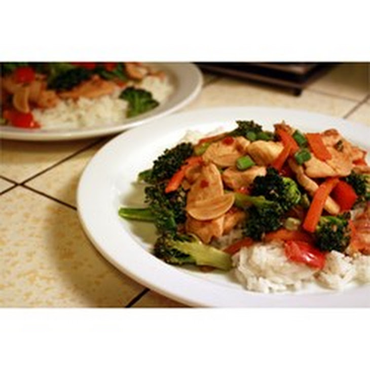 Sweet, Spicy Stir Fry with Chicken & Broccoli Recipe